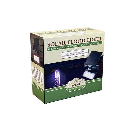 wholesale, wholesale lighting, flood light, solar flood light, wireless flood light, 100 LED, 600 lumens, pacific accents