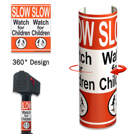 Caution 360 Degree Wrap Around Safety Yard Signs