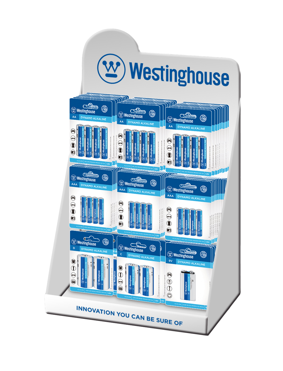 Westinghouse Dynamo Alkaline 96 pc. Battery Display Only