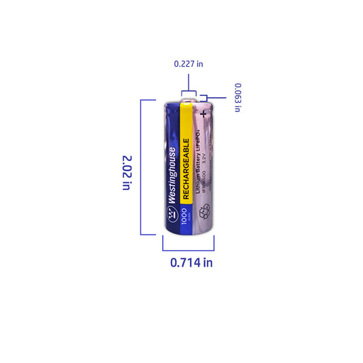 wholesale, wholesale batteries, westinghouse batteries, IFR18500, lithium phosphate batteries, rechargeable batteries, 1000mAh