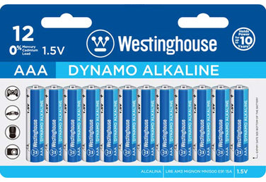Westinghouse AAA Dynamo Alkaline Clamshell Pack of 12