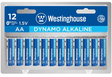 Westinghouse AA Dynamo Alkaline Clamshell Pack of 12