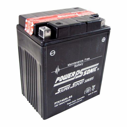 wholesale, wholesale batteries, powersonic, power sonic, PTX14AHL-BS, power sport batteries