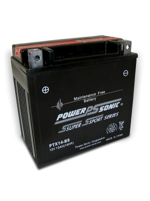 wholesale, wholesale batteries, power sonic, powersonic, PTX14-BS, power sport battery