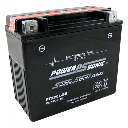 wholesale, wholesale batteries, powersonic, power sonic, PTX20L-BS, power sport battery
