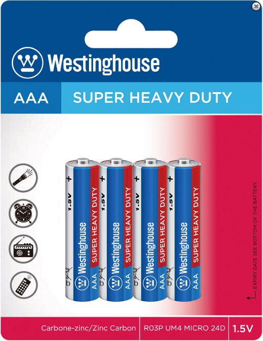 Westinghouse AAA Super Heavy Duty 4pk