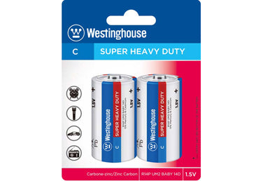 wholesale, wholesale batteries, westinghouse batteries, C batteries, super heavy duty, C