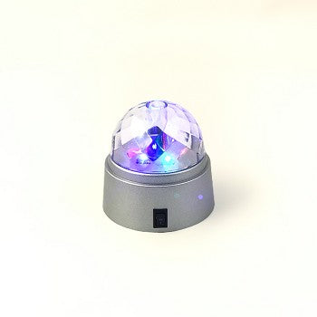 Portable Spinning Mini Disco Light 6 PC Display