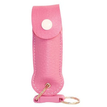 Pepper Shot .5 oz Pepper Spray with Pink Leatherette Holder 12pc Display