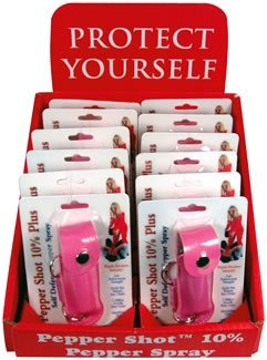 wholesale pepper spray, pepper spray display, pepper spray