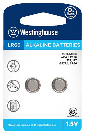 Westinghouse AG4 / 377 / LR626 1.5V Button Cell Battery