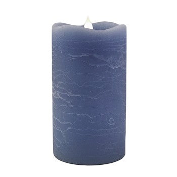 Solaré Distressed 3D Virtual Flame 3x5 Melted Wax Candle