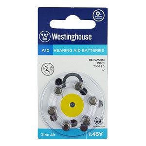 Westinghouse Hearing Aid A10 6pk