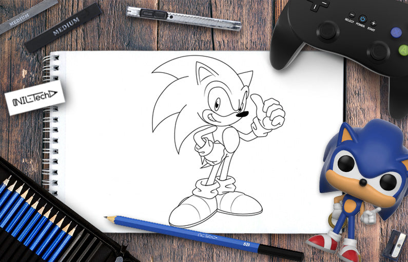 How To Draw Sonic Step By Step Tutorial Shop Nil Tech