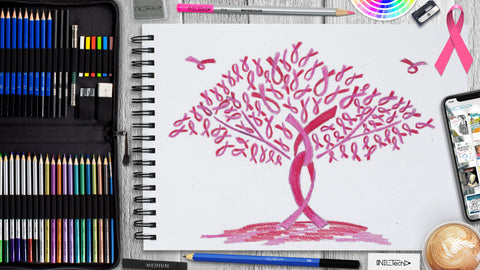 Breast Cancer Awareness Month Drawing Step by Step