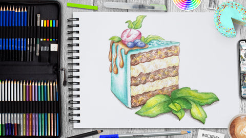 How to Draw a Piece of Cake