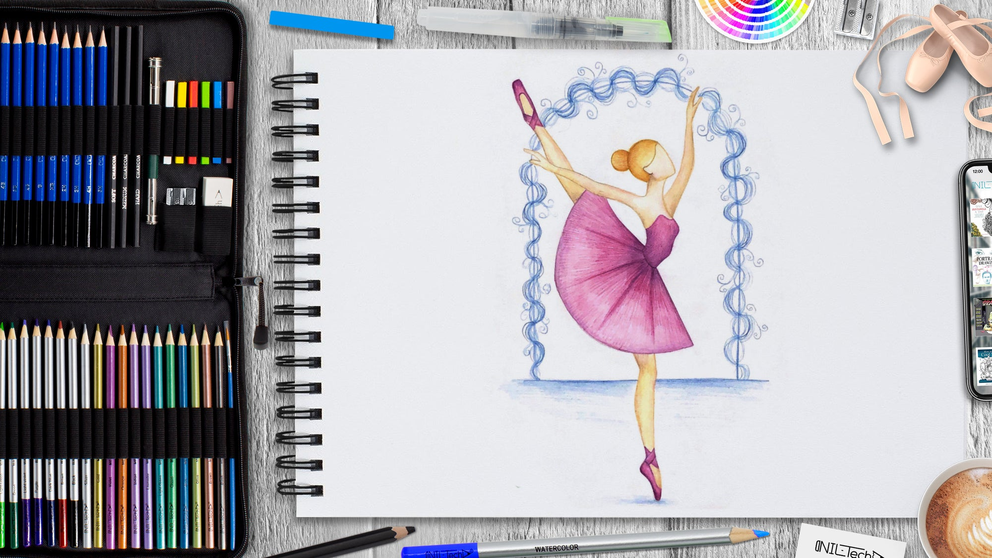 How to Draw Ballerina: International Dance Day