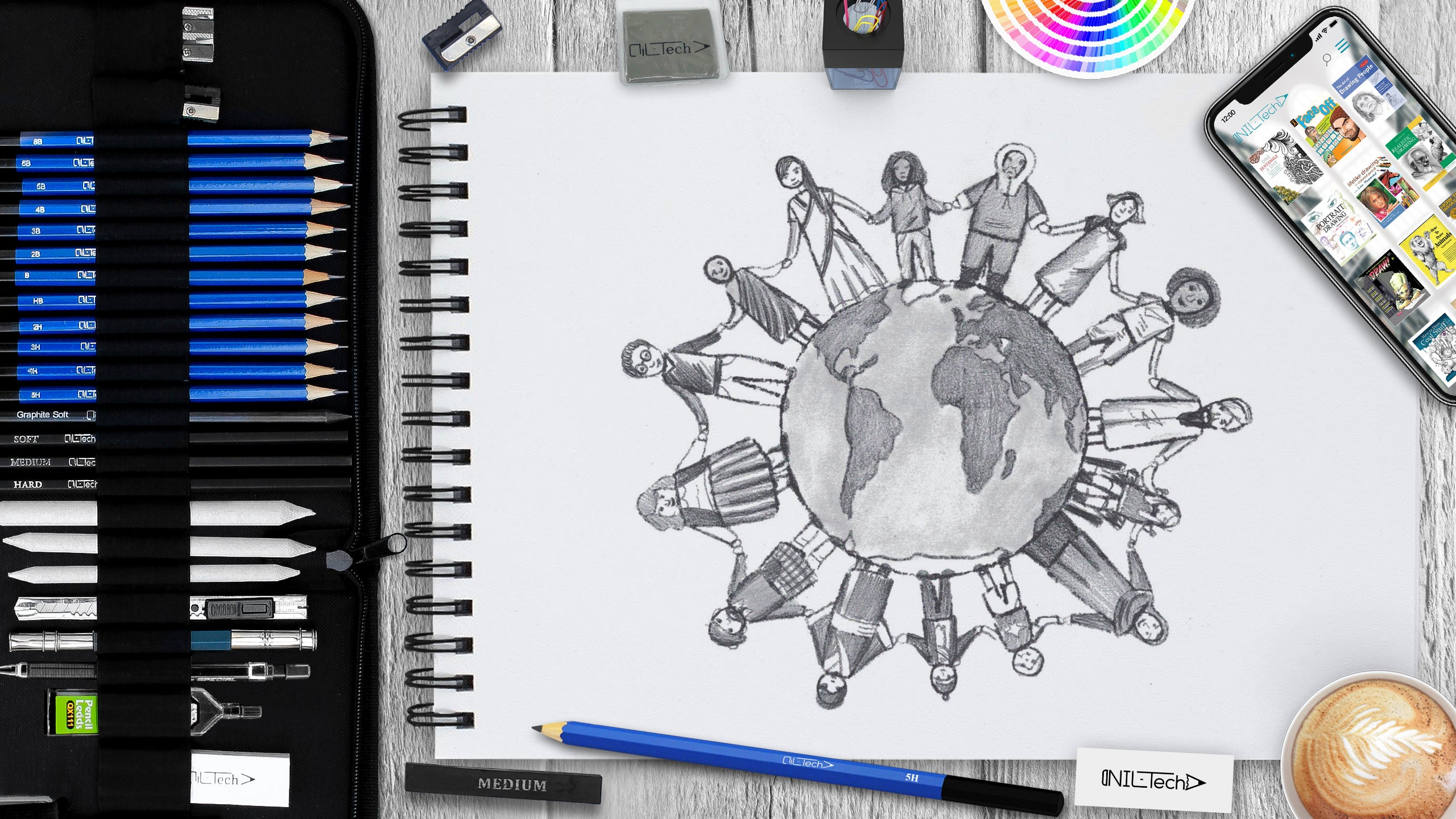 International Peace Day Step by Step Drawing Tutorial