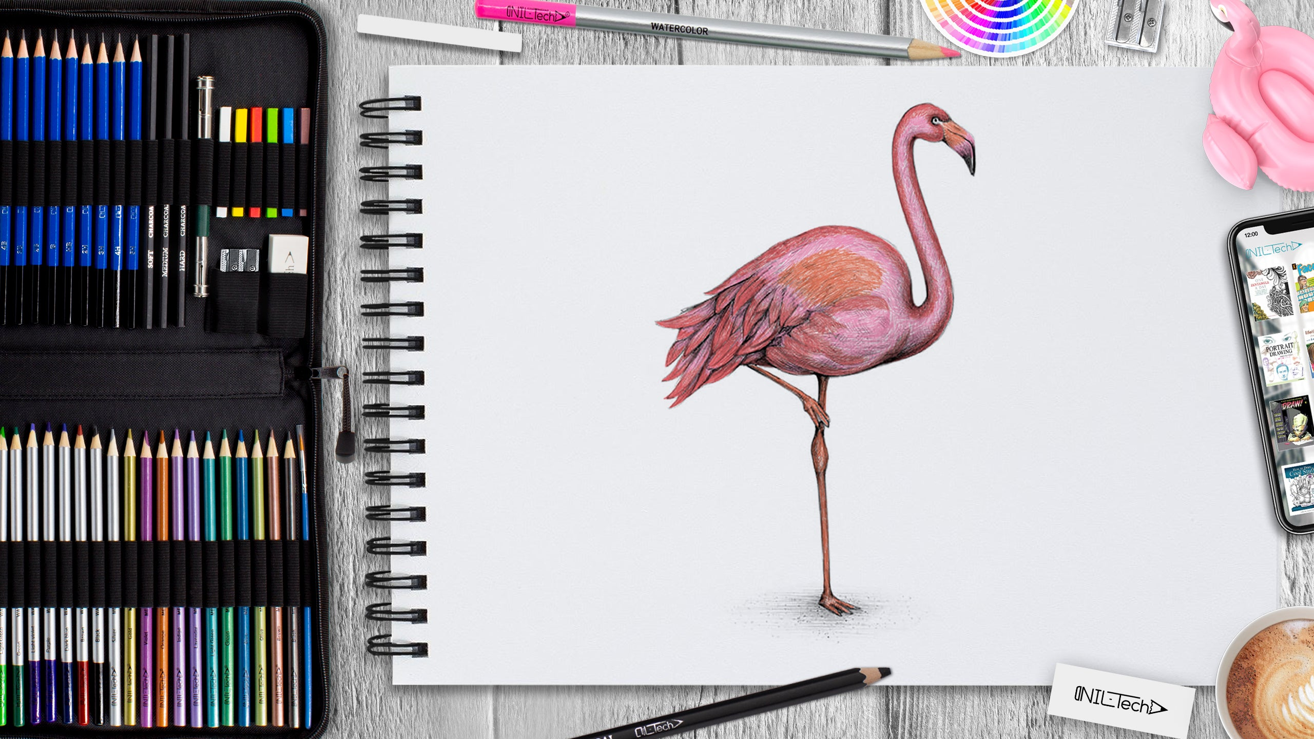 How to Draw a Flamingo Step by Step