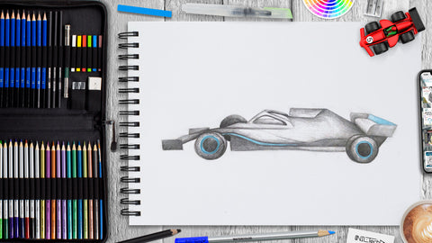 How to Draw Formula One Car