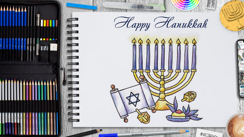 Hanukkah Drawing