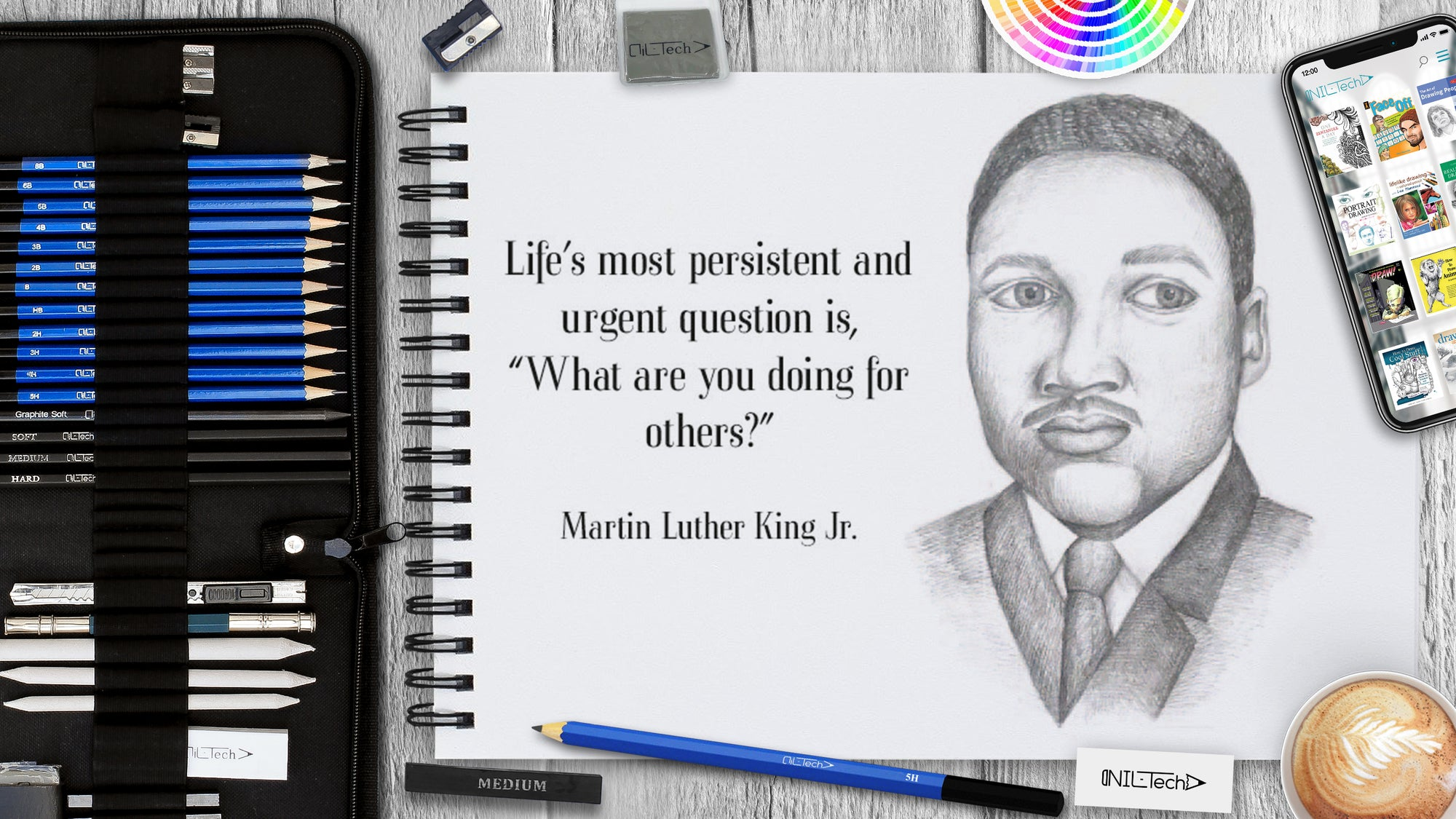 How to Draw Martin Luther King Jr.