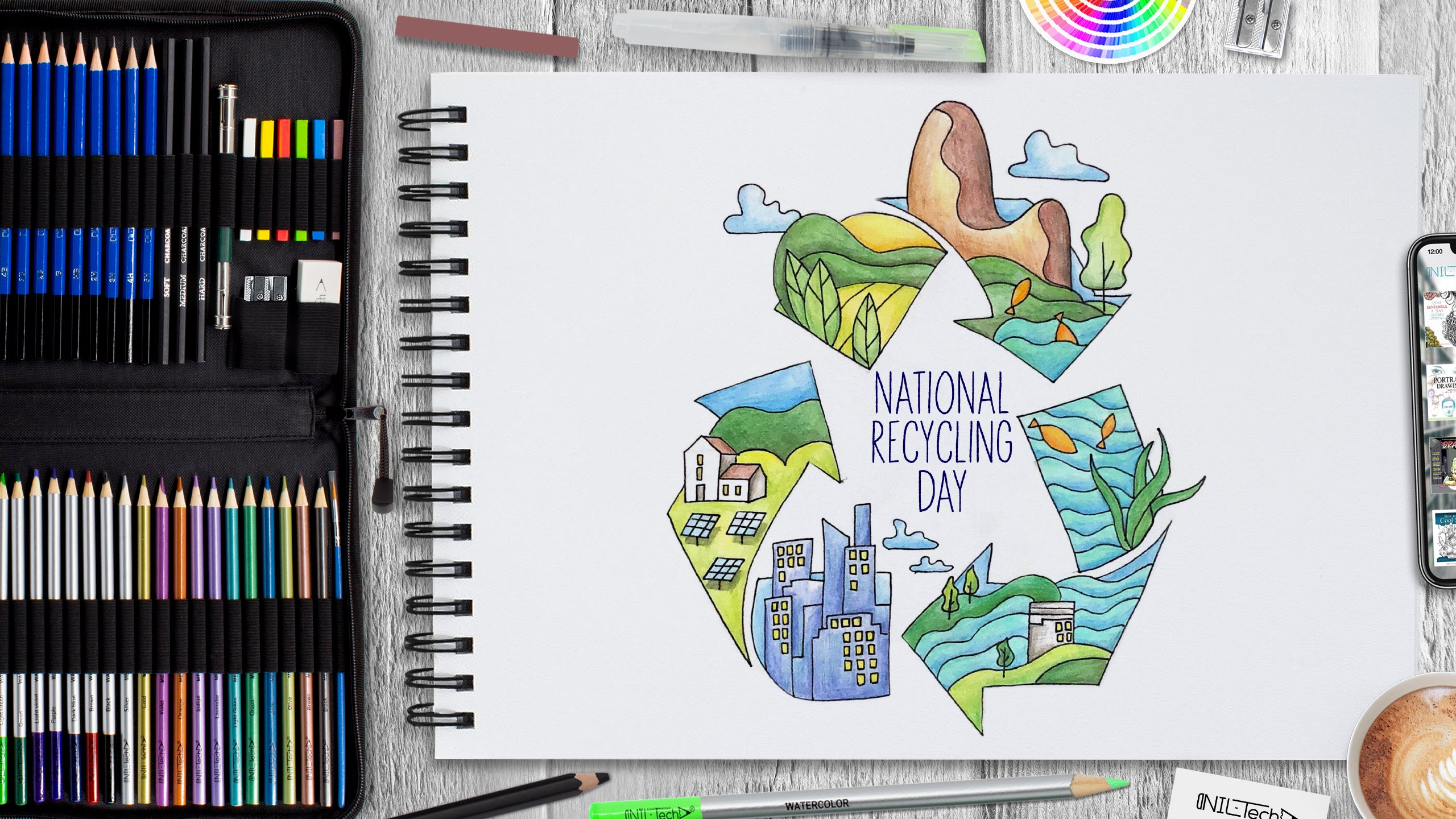 National Recycling Day Drawing