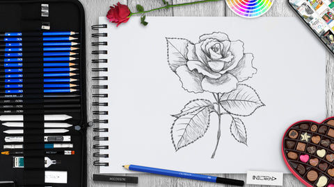 How to Draw a Rose Tutorial