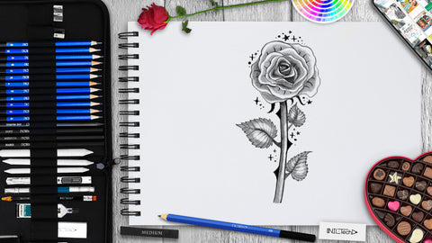 How to Draw a Rose Step by Step Tutorial