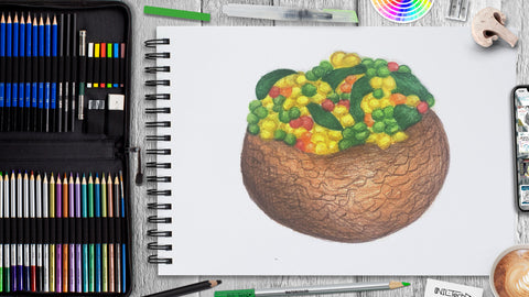 How to Draw Stuffed Mushroom