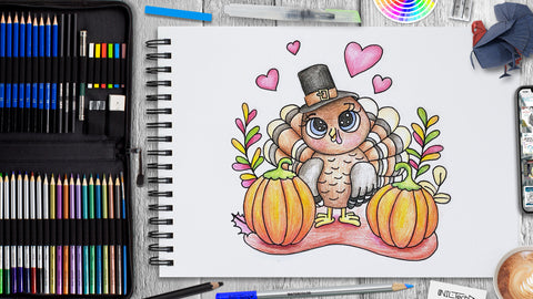 Thanksgiving Turkey Drawing