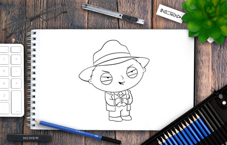 HOW TO DRAW Stewie Griffin – Al Capone step by step