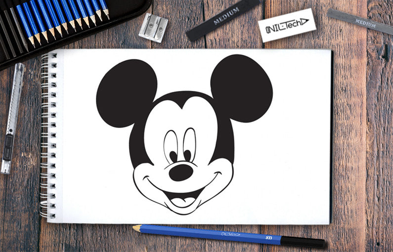 How to draw Mickey Mouse step by step