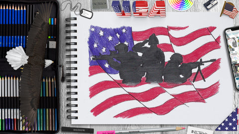 Veteran Day Drawing Step by Step