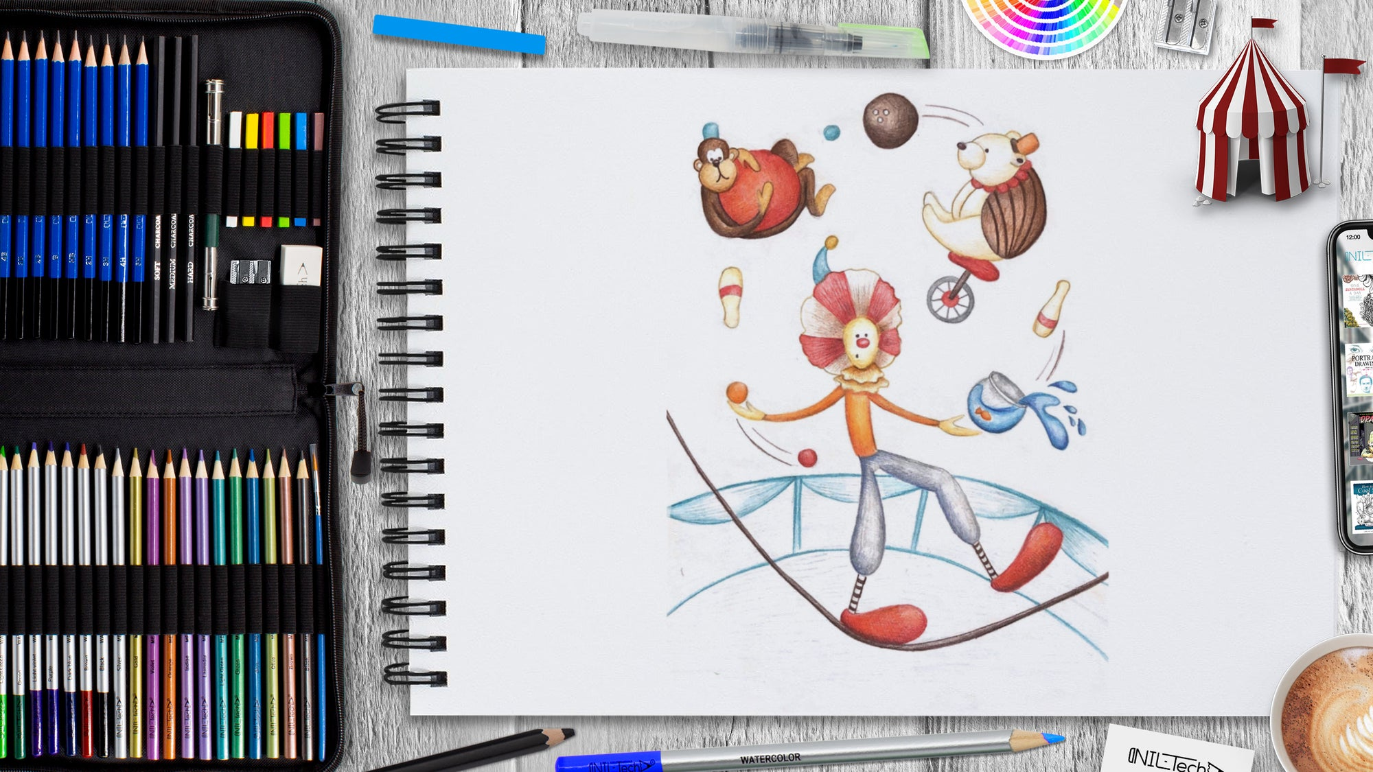 How to Draw Clown: World Circus Day