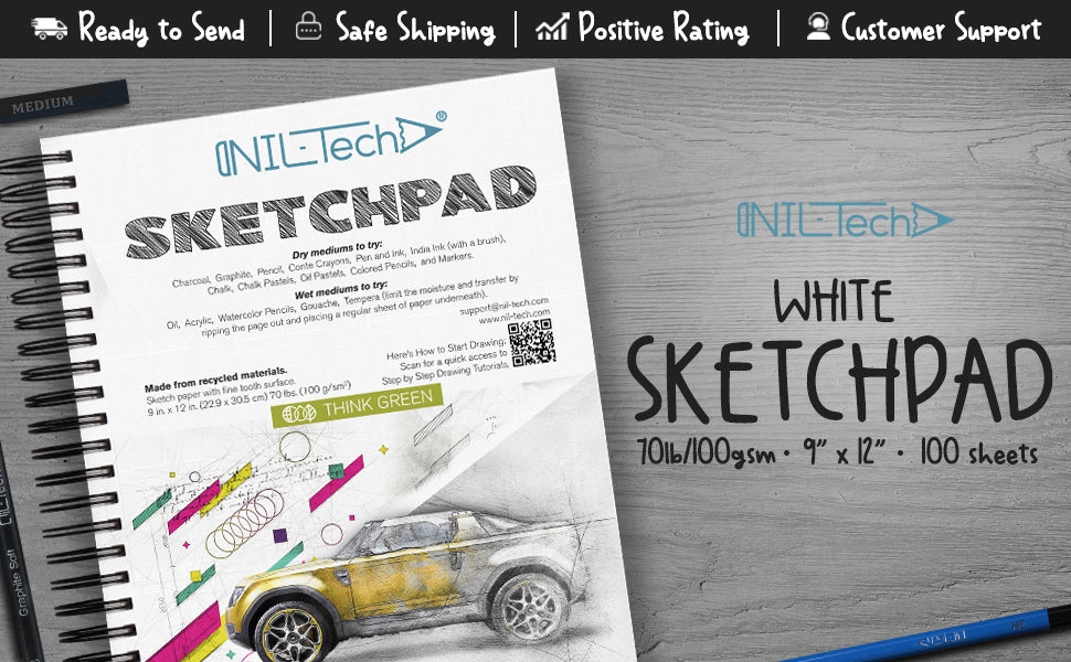 white paper sketchpad