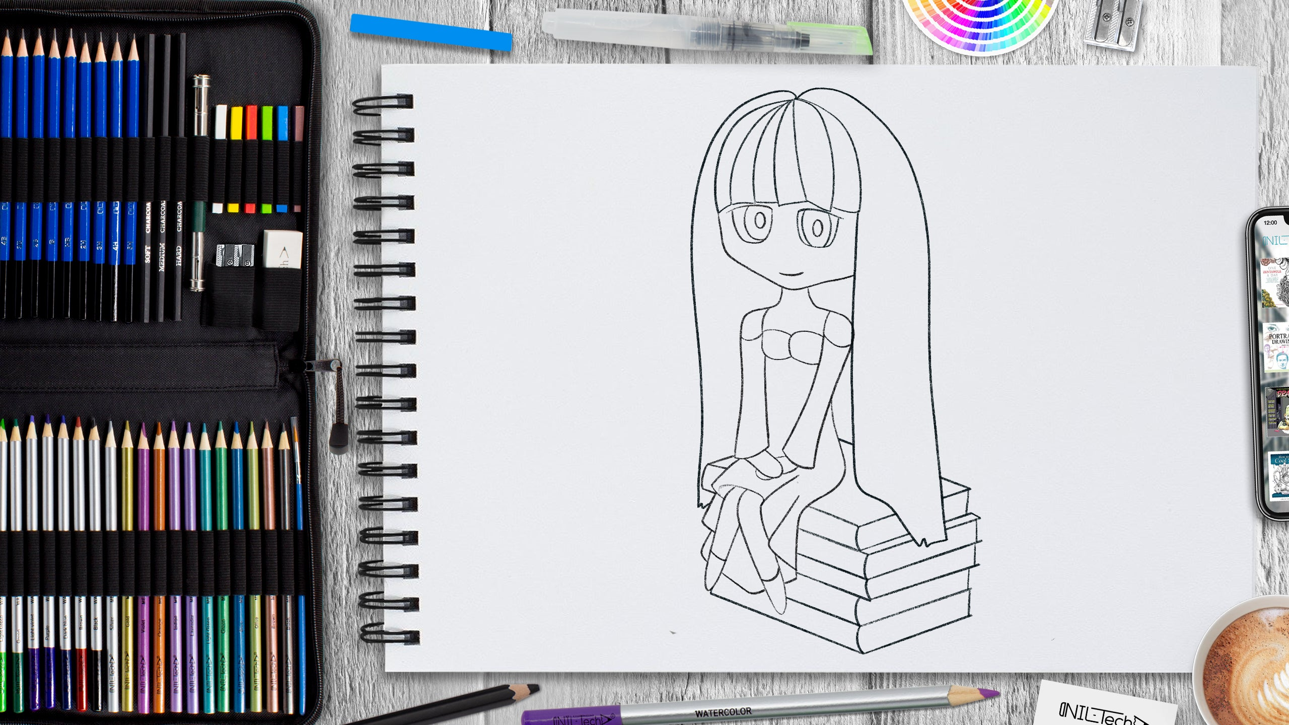 how to practice drawing anime
