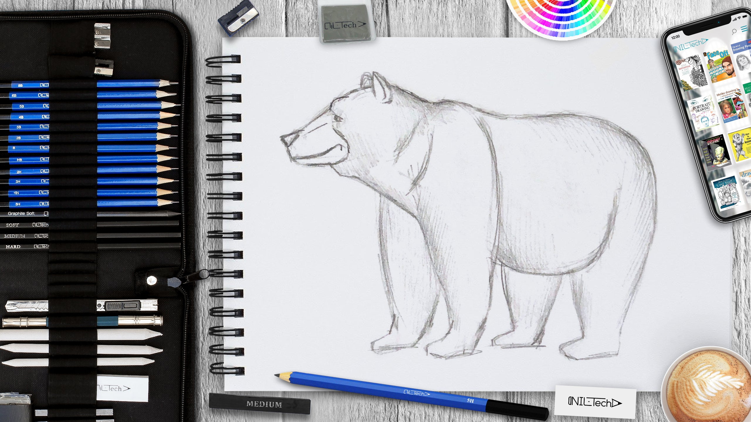 black bear drawing