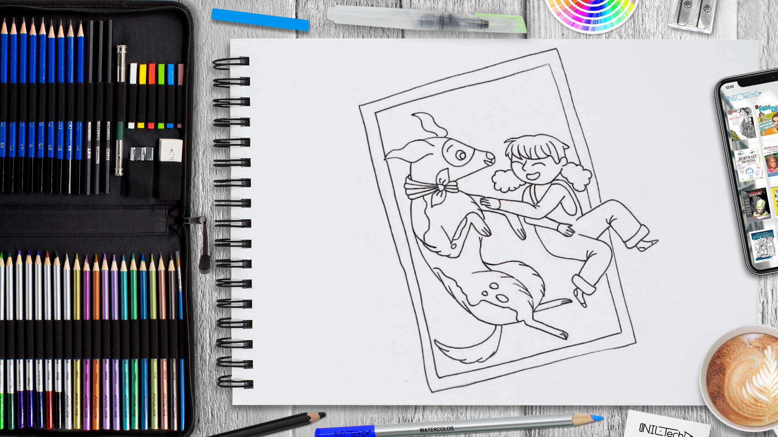 best friends day drawing tutorial