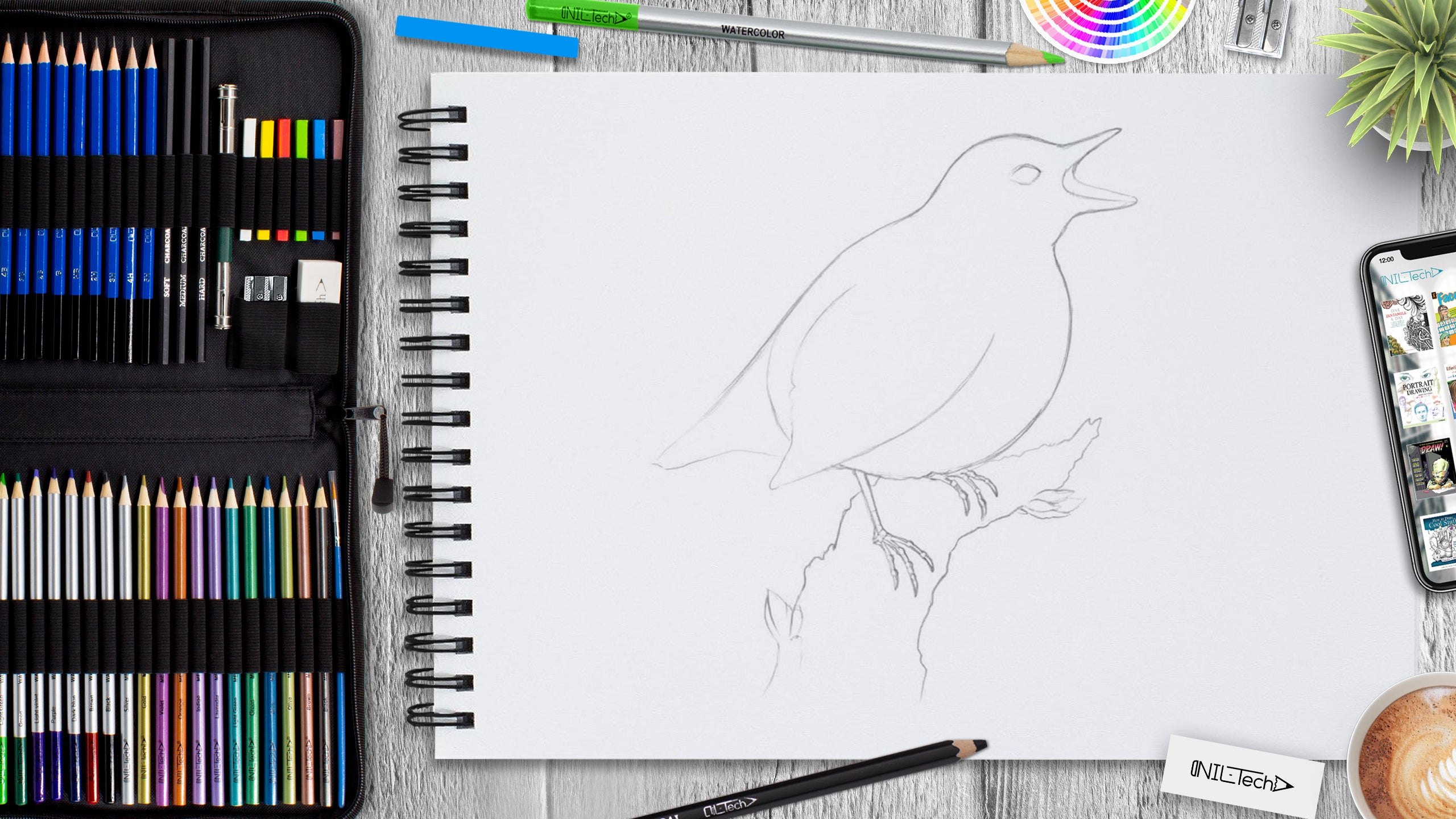 easy bird drawing tutorial