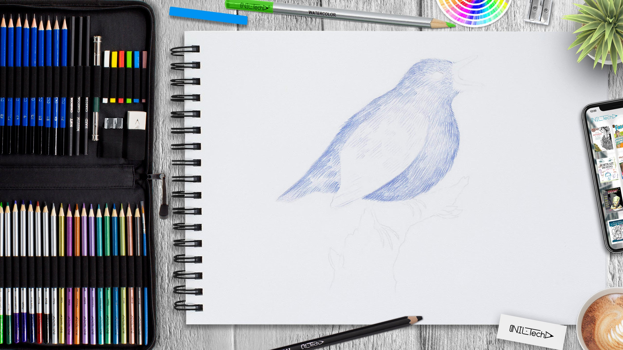 simple bird drawing tutorial