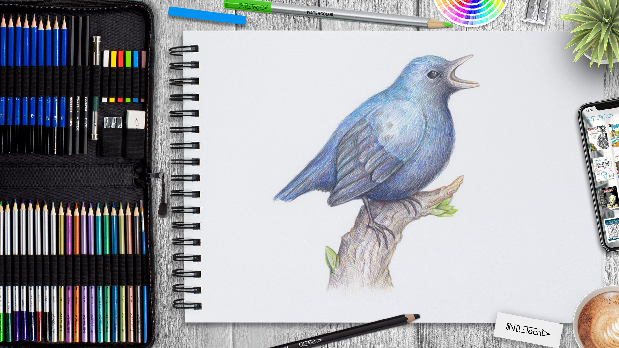 simple bird step by step drawing tutoral