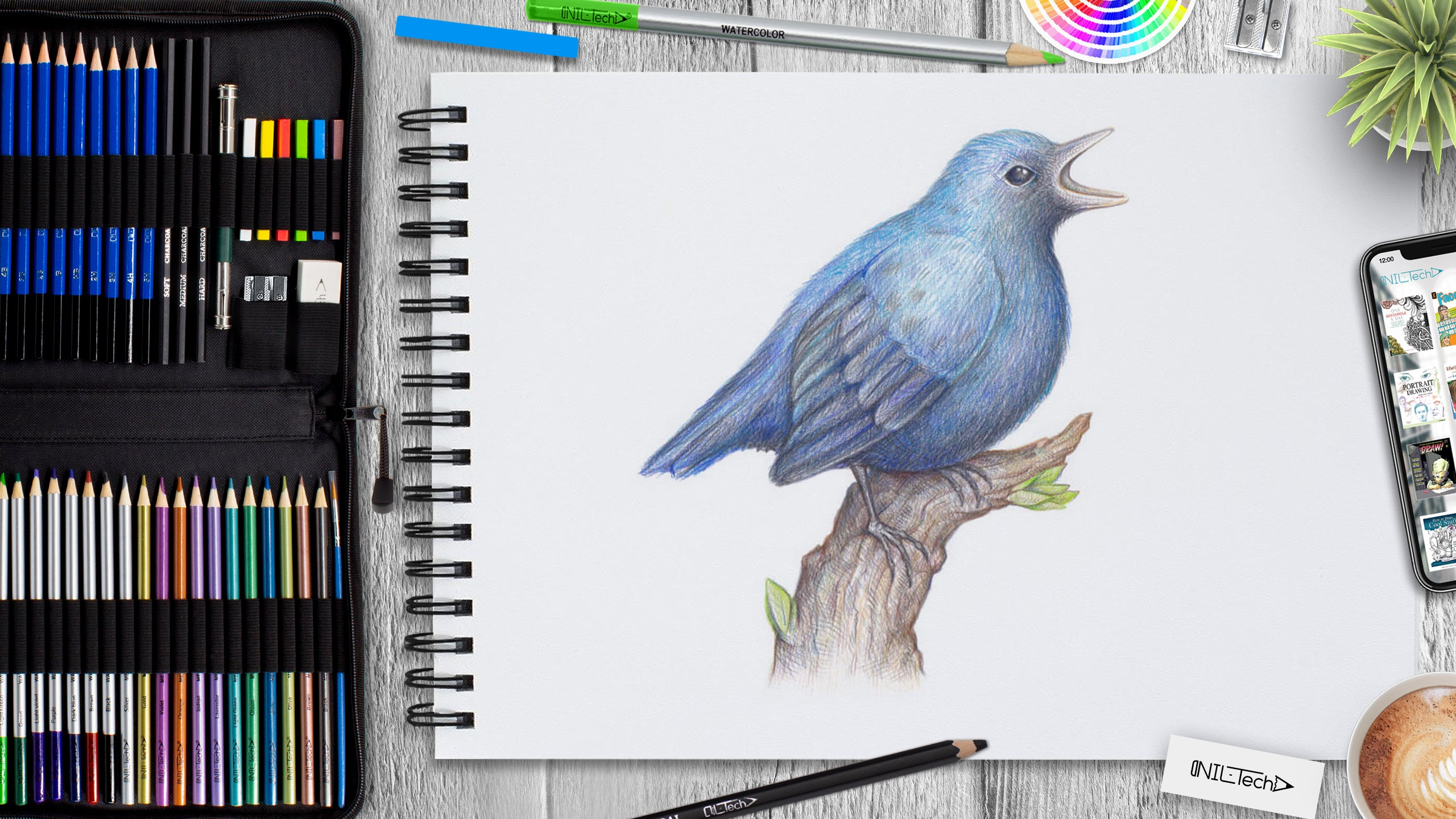 bird step by step drawing tutorial