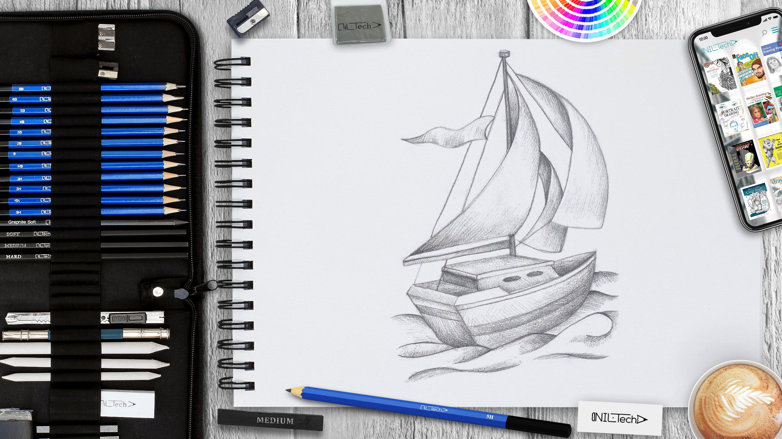 easy boat drawing