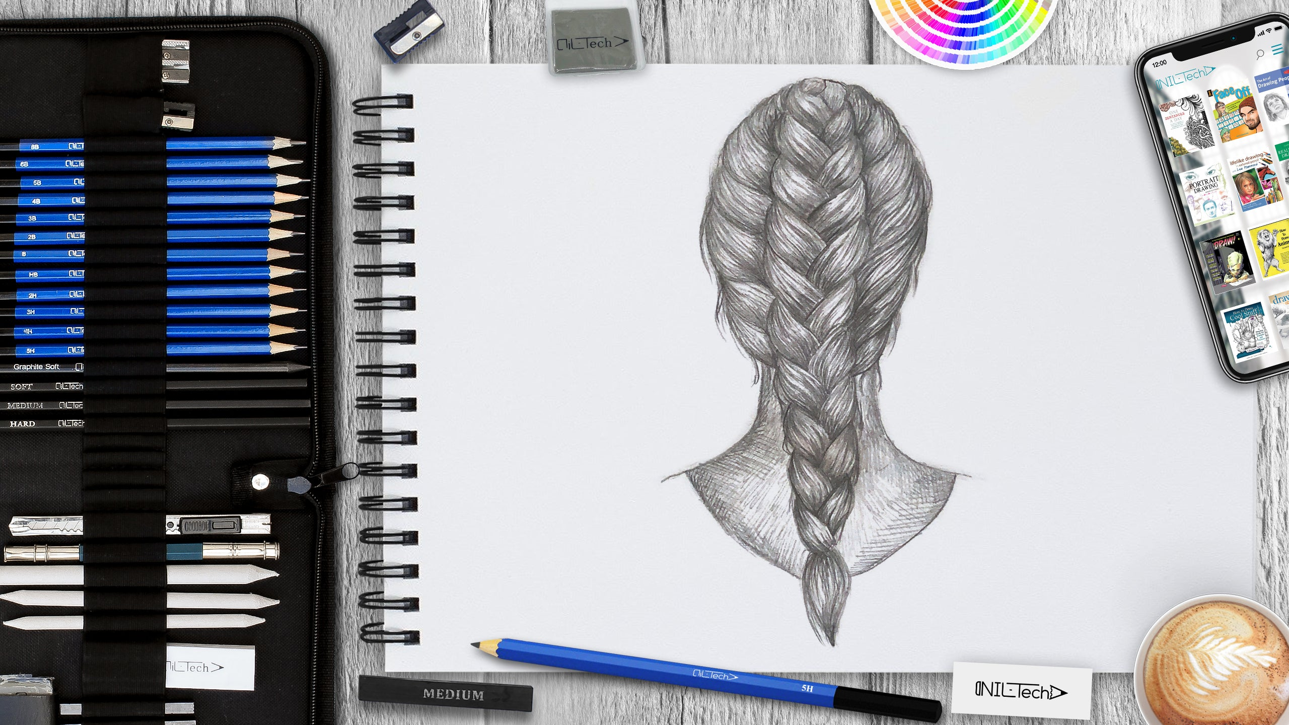 how to draw braid