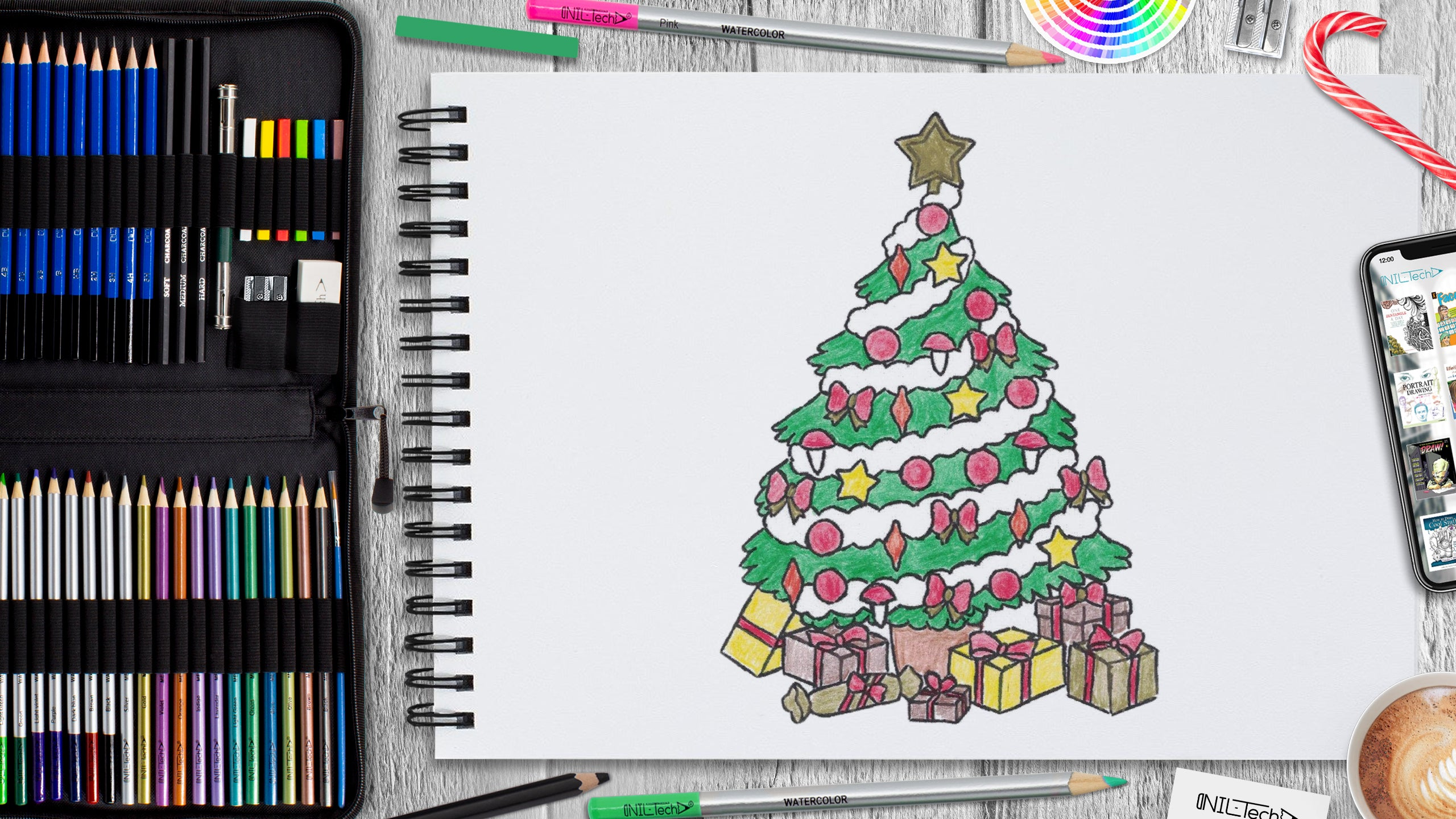 step by step new year drawing tutorial
