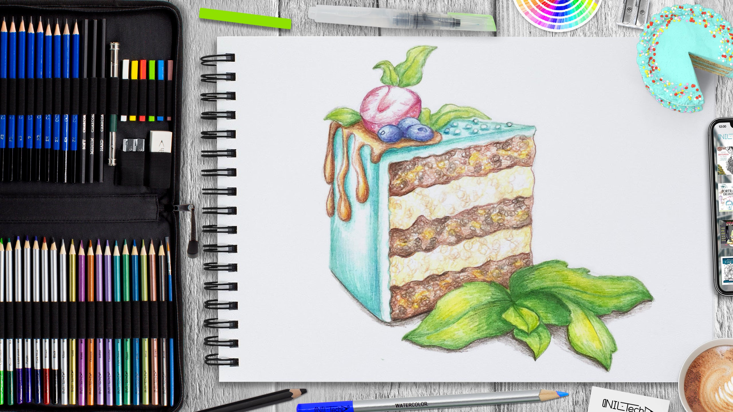 cake drawing easy