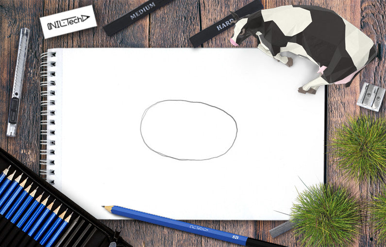 How to draw a cow step by step tutorial