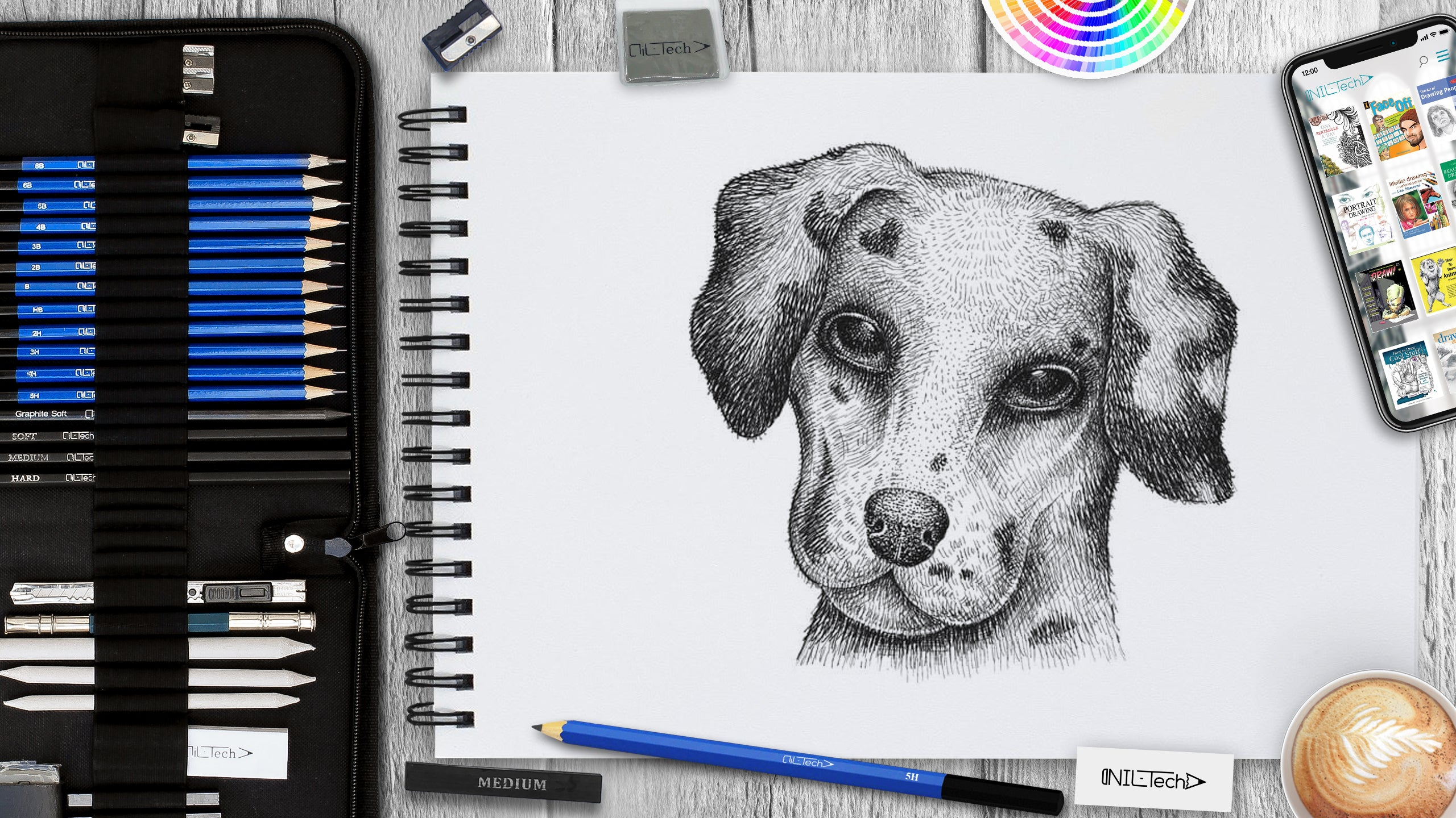 simple dog drawing tutorial