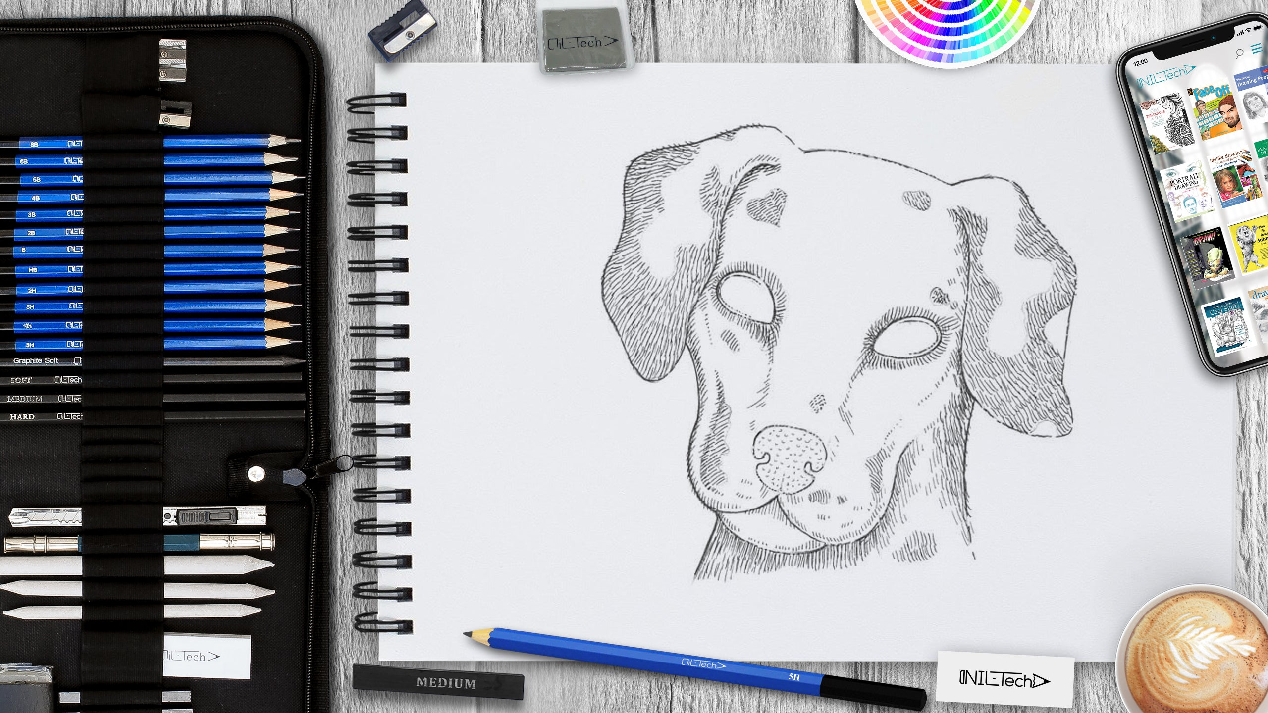 dalmatian step by step drawing tutorial